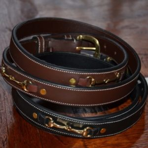 Genuine leather belt - Snaffel