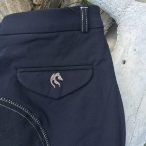 Mens Deep Blue bamboo breeches
