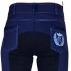 Electrial blue Fullseat breeches in Eco bamboo fiber