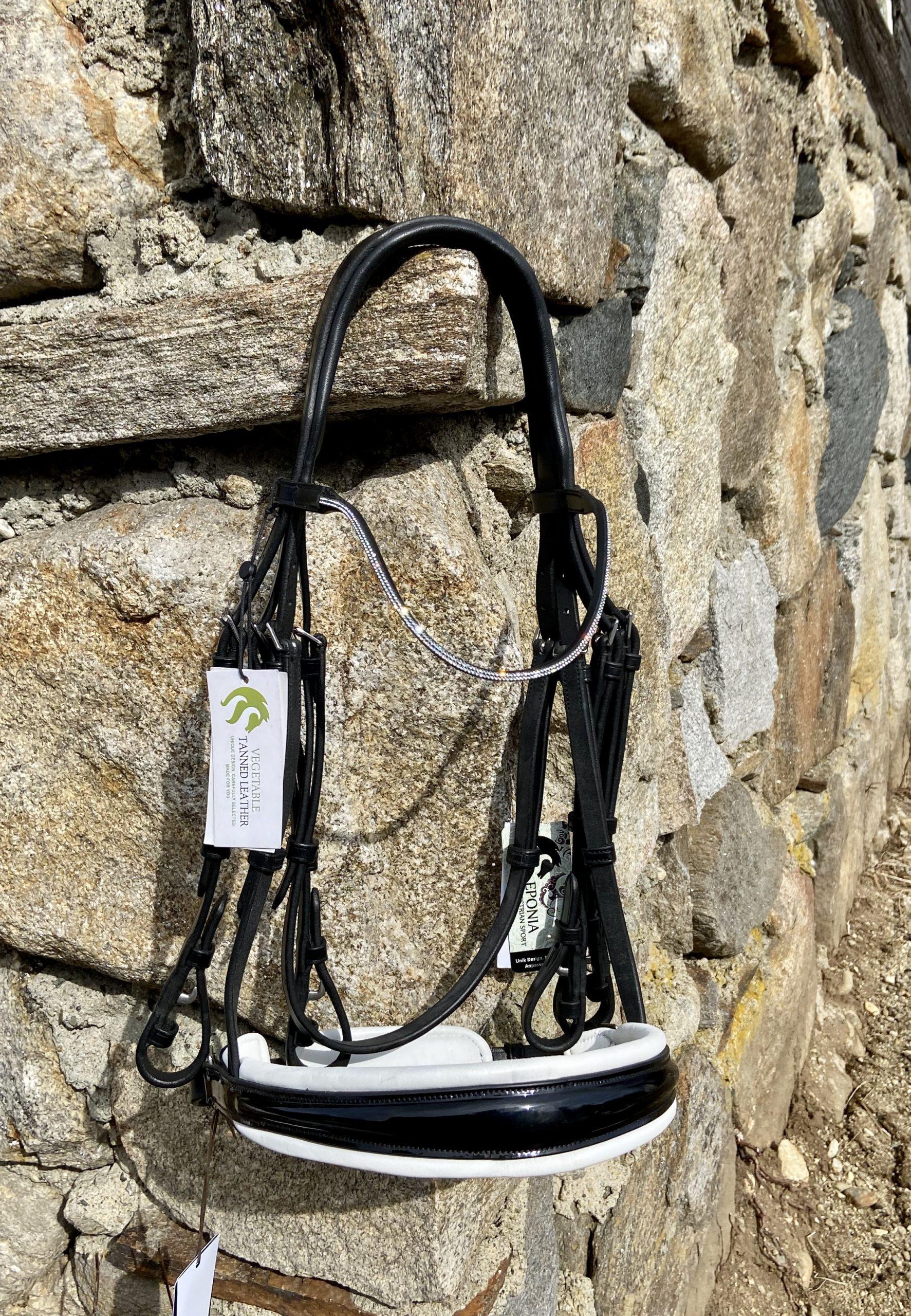2 Row MYO Browband Supplies Crystal Buckle Rings PAIR 26mm